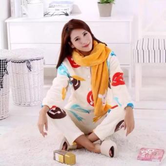 T-OS Set Baju Tidur Nada Syal [yellow]