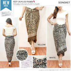T-OS Skirt Rok Lilit Songket Batik Design HD1013 - [White]