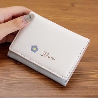 Tango kecil segar perempuan Jepang dan Korea Fashion Style bagian tipis dompet dompet (Light Blue
