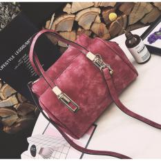 Tas Branded Wanita - Sling Bags - PU Leather - Red - 1505