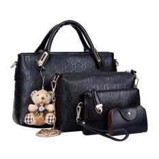 Tas Fashion - High Quality Korean Style 4in1 - Hitam