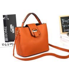 Tas Handbag Wanita Elegan 43374 Yellow Brown Import