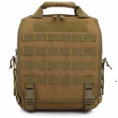 Tas Laptop Army Backpack Silver Knight - Brown