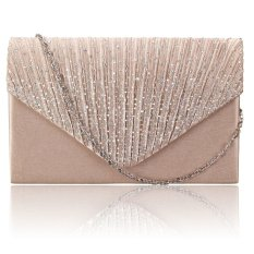 Diamante Women Evening Bag Satin Bridal Ladies Clutch Party Prom Envelope Bag Gold - intl