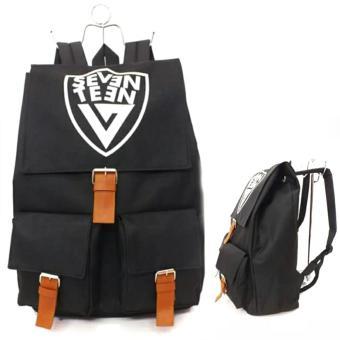 Tas Ransel Seventeen - Backpack Korean Style KPOP Black