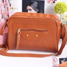 Tas Selempang Wanita / Boston Bag Korean Fashion - Mocca