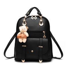 Tas Wanita Ransel Selempang Wanita Branded Import Korea Doll Backpack - Hitam