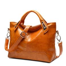 Tas Wanita Tas Wanita Baru Tas Sederhana Desain Wanita Messenger Bags-Brown