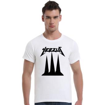 The Artist Formerly Knownas Prince Yeezus Purple Rain Cotton Soft Men Short T-Shirt (White)
