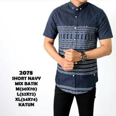 Tribal Source · The Most Kemeja Casual Pria Slimfit Lengan Pendek TM Navy .