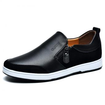 "The New Men""s Casual Leather Men""s Shoes Cool And Comfortable (Black) ' - Intl"