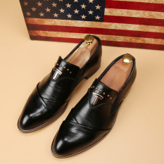 Tidog The British Men's Business Casual Shoes Set Foot Pointed Slim Trend Of Korean Stylist Men Shoes