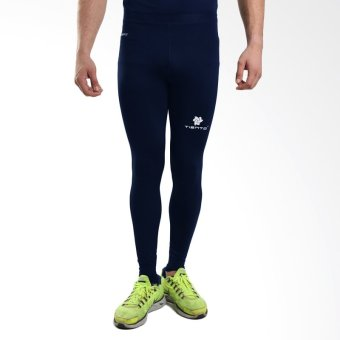 Tiento Baselayer Manset Rash Guard Compression Long Pants NavyWhite - Navy