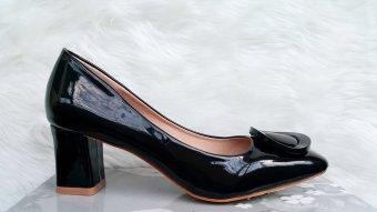 Timoti Sepatu Kerja Tumit Tahu Import 2688-5 (Hitam)