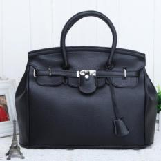 Top-Handle Bags Fashion Super Star Handbag Women Shoulder Handbags Bags Ladies Messenger PU Leather Bag (Black)