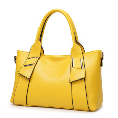 Top-Handle Bags Soft PU Women Bag Ladies Leather Handbags Tote Purse Women Handbag Sac Femme Designer Handbags High Quality (Yellow)