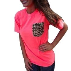Toprank Fashion Stylish Lady Women's Short Sleeve V-neck Party Leisure T-shirt Tops (Orange) - Intl
