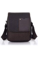 Toprank Pu Leather Men Bag Fashion Men Messenger Bag Small Business Crossbody Shoulder Bags (Brown)
