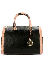 Toprank Women Synthetic Leather Handbag Pillow Bag Pendant Casual Party Business Shoulder Bag (Black) - Intl