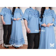 Trend Baju - Couple Elegant Uk L - Blue