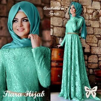 Trend Baju - Hijab Brukat Lapis Furing Uk L - Hijau