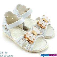 TrendiShoes Sandal Anak Perempuan Variasi Pita KX06 - Putih
