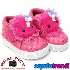TrendiShoes Sepatu Anak Bayi Perempuan Semi Boot Boneka SBNK - Fuchsia