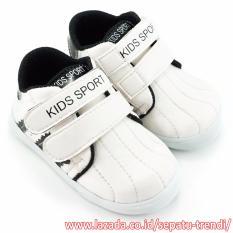 TrendiShoes Sepatu Anak Laki-Laki Kids Sport DSAG - Putih Hitam