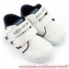 TrendiShoes Sepatu Anak Laki-Laki Kids Sport DSAG - Putih Navy