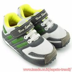 TrendiShoes Sepatu Anak Laki New Sport Kids DKDS - Hijau