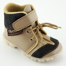 TrendiShoes Sepatu Boot Anak Bayi Laki-Laki OkeBoy DDOKB - Beige