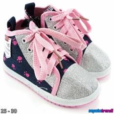TrendiShoes Sepatu Boot Anak Cewe Denim Import Zipper VEYSNW - Lis Pink