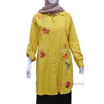 Tunik Bordir Amira - Yellow