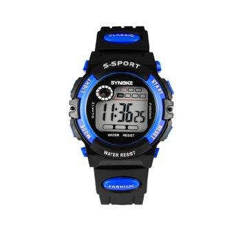 Twinklenorth Men Blue Waterproof Plastic Causal Digital LED Watch Watches Wristwatches 99269-1