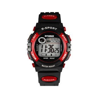 Twinklenorth Men Red Waterproof Plastic Causal Digital LED Watch Watches Wristwatches 99269-4