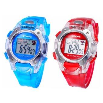 Twinklenorth Men's Blue/Red Plastic Strap Watch 99319-8