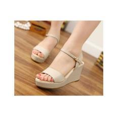 Ubutik Sepatu Wanita Wedges Santai LS - Cream