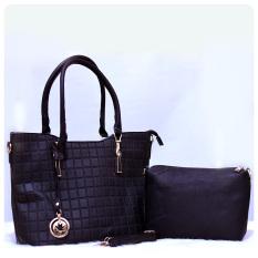 Ultimate Tas Wanita 2in1 / Top-Handle Bag / Tas Branded Wanita High Quality Korean / Tas Fashion Korean Elegant Bag Style 209 - Black