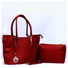 Ultimate Tas Wanita 2in1 / Top-Handle Bag / Tas Branded Wanita High Quality Korean / Tas Fashion Korean Elegant Bag Style 209 - Red