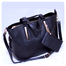 Ultimate Tas Wanita 2in1 / Top-Handle Bag / Tas Branded Wanita High Quality Korean / Tas Fashion Korean Elegant Bag Style AS- 830 - Black