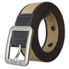 Unisex Casual Canvas Belt Web Belt Woven Belt With Needle Buckle For Jeans 125cm 49inch- Intl
