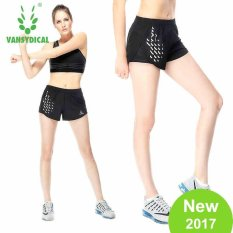 VANSYDICAL Women Fashion Sport Shorts Quickly Dry Breathable Running Fitness Printed Short pants - intl