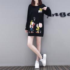 Versi Korea dari kaki Eropa musim gugur baru lindung nilai lengan panjang baju t-shirt