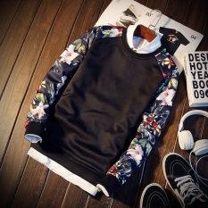 Versi Korea pakaian siswa remaja jaket (Bunga merah-hitam)