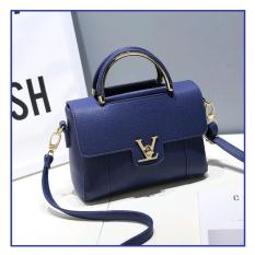 Vicria Tas Branded Wanita - Korean High Quality Bag Style - BLUE