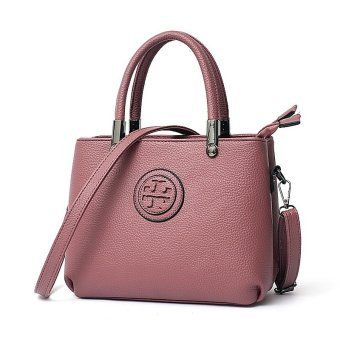 Vicria Tas Branded Wanita - Women Office Korean Elegant Bag Style High Quality PU Leather - Merah Muda