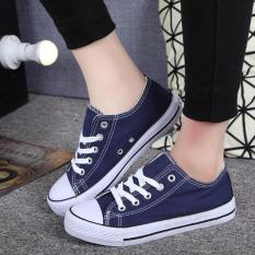 Victory Ma'am Fashion Sneakers Han Edition Classic Canvas Casual Shoes (Blue) - Intl