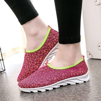 Victory Woman Running Shoes fashion Leisure sports Casual slip-onWalking shoes(Red) - intl