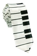 VM Dasi Fashion Motip Piano Hitam Putih Slim 2 Inch - Fashion Tie