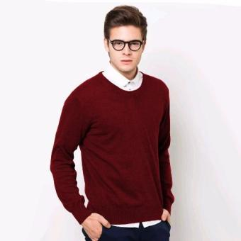 VM Sweater Oblong Rajut Polos Panjang Merah Maroon - Long Sweater